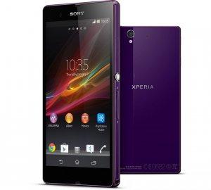 Sony Xperia Z Android-älypuhelin, violetti