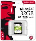 Kingston 32 Gt SD Canvas Select UHS-I Speed Class 1 (U1) -muistikortti