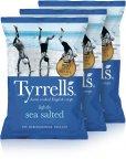 Tyrrells Lightly Sea Salted -perunalastut, 3 x 150 g