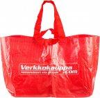 Verkkokauppa.com iso muovinen ostoskassi, punainen