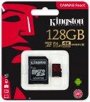 Kingston 128 Gt microSD Canvas React UHS-I Speed Class 3 (U3) -muistikortti