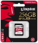 Kingston 256 Gt SD Canvas React UHS-I Speed Class 3 (U3) -muistikortti