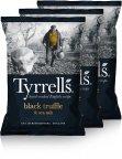 Tyrrells Black Truffle & Sea Salt -perunalastut, 3 x 150 g