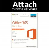 Microsoft Office 365 Home 12 kk aktivointikortti Attach