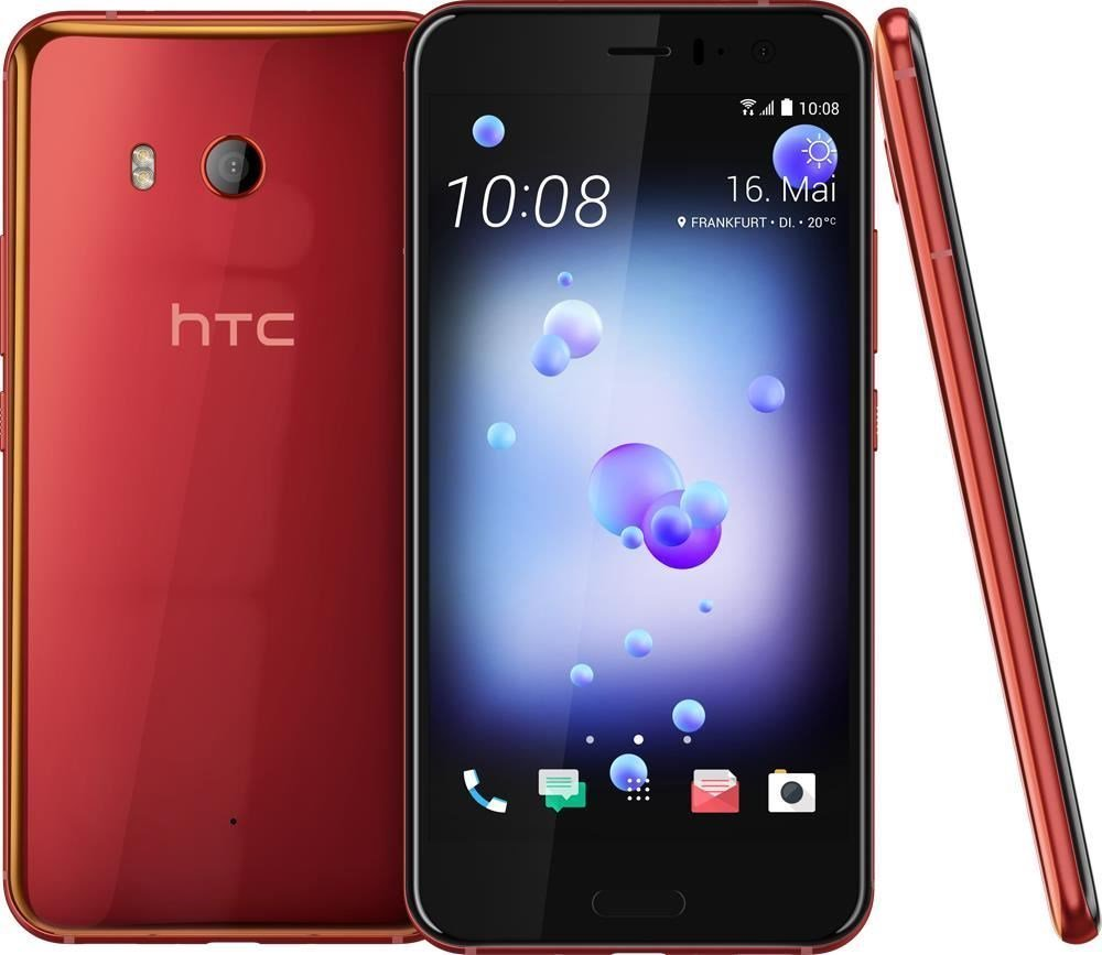 HTC U11 ‐Android-puhelin 64 Gt Dual-SIM, punainen – Android – Puhelimet – Puhelimet ...